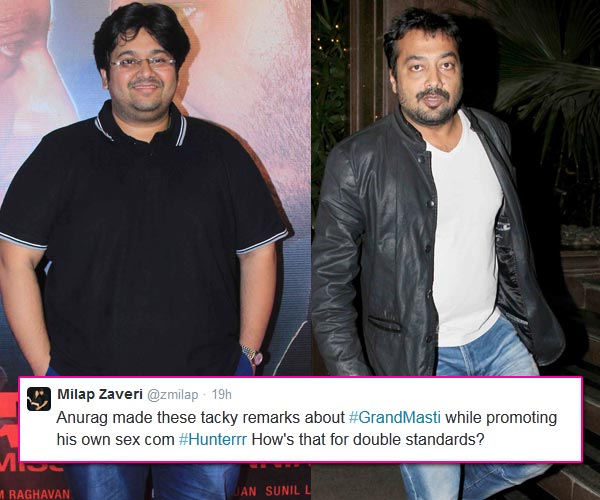 Milap Zaveri takes on Anurag Kashyap on Twitter, accuses him of having double standards!