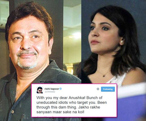 Rishi Kapoor Supports Anushka Sharma