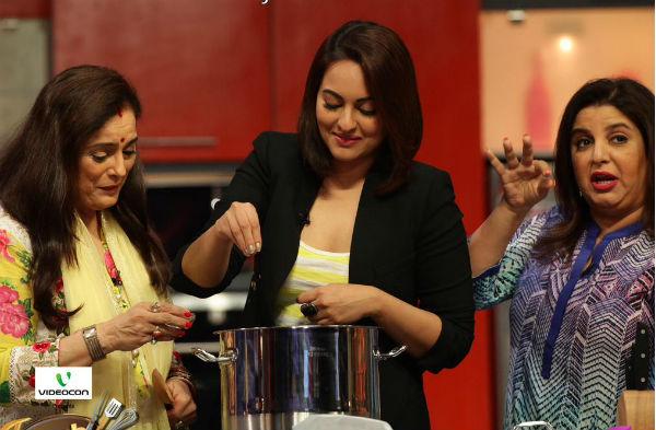 Farah Ki Daawat: Sonakshi Sinha gets into an argument with her mom, Farah Khan controls the situation!