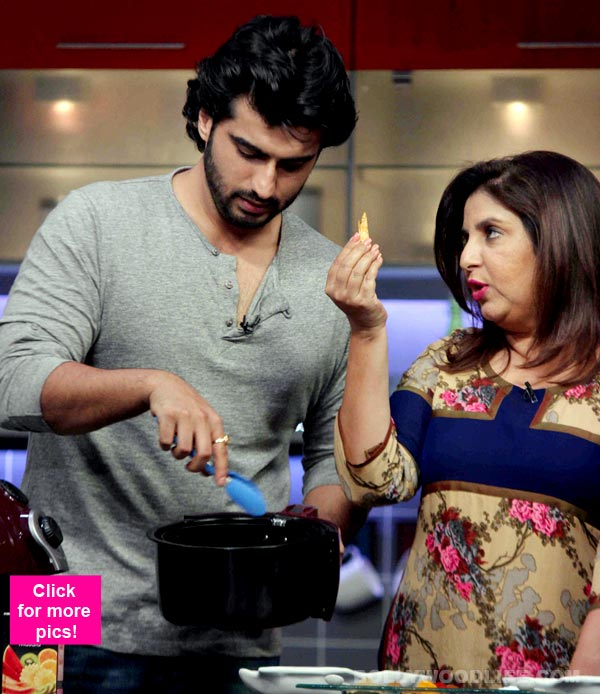 When Arjun Kapoor cooked Jungli Mutton for Farah Khan – view pics!