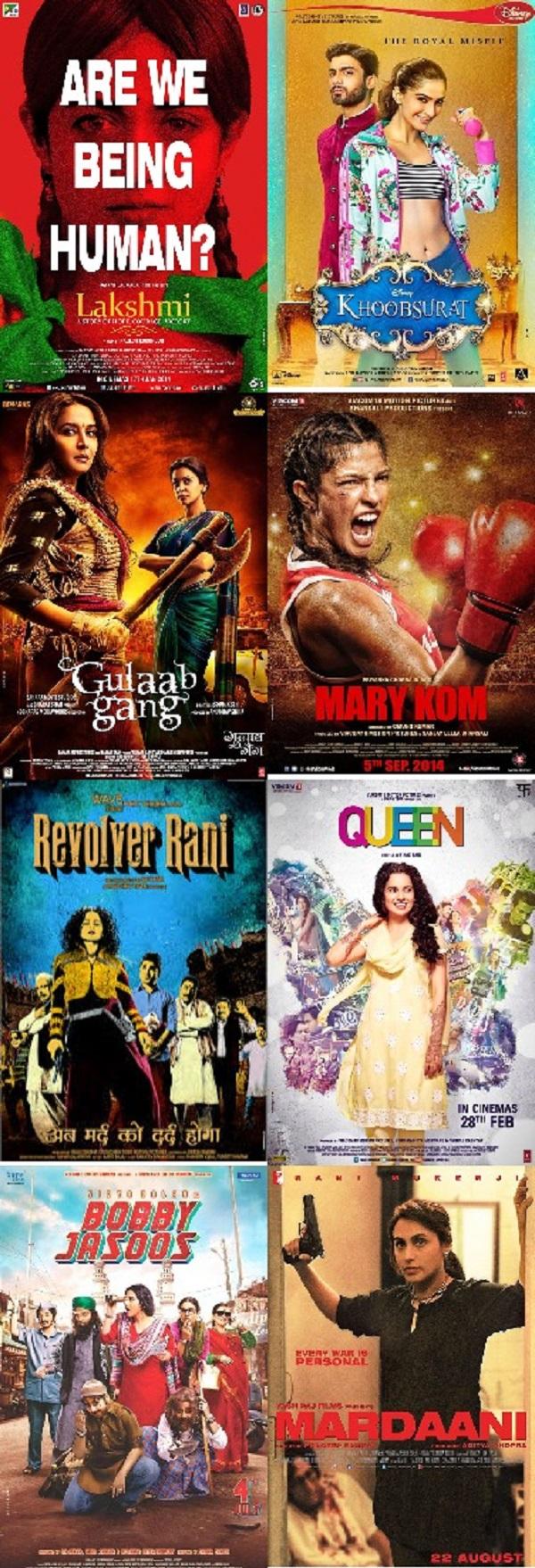 Women's Day Special: Rani Mukerji's Mardaani, Kangana Ranaut's Queen, Priyanka Chopra's Mary Kom, Sonam Kapoor's Khoobsurat – women centric films that rocked last year!