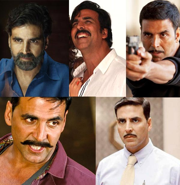 Five shades of Akshay Kumar's moustaches