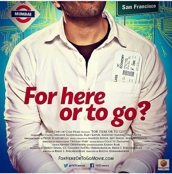After cameo in Furious 7,  Ali Fazal to star in For here or to go?