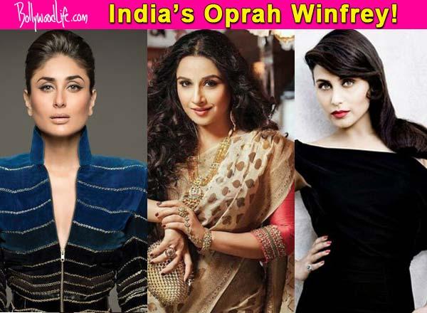 Vidya Balan beats Rani Mukerji and Kareena Kapoor Khan to become India's Oprah Winfrey?