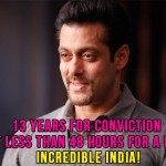 Salman Khan hit and run case: 13 years for conviction but less than 48 hours for a bail, Incredible India!