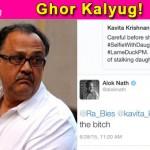 OMG!! Sanskari Alok Nath abuses woman on Twitter!