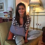 An injured Alia Bhatt arrives in Hyderabad for a family vacation!