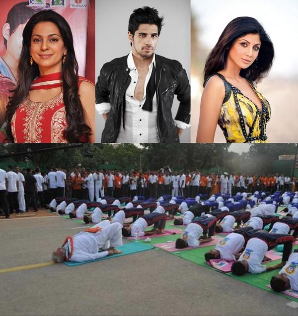 World Yoga Day: Sidharth Malhotra, Shilpa Shetty, Juhi Chawla celebrate PM Narendra Modi's yoga initiative!
