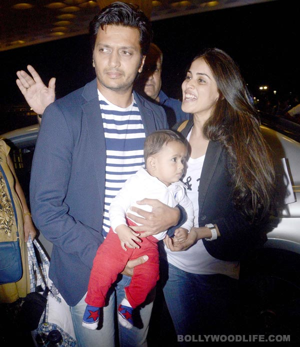 Riteish Deshmukh and Genelia D'Souza step out with baby ...