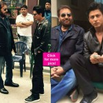 You cannot miss these pictures of Shah Rukh Khan shooting with Vinod Khanna and Rohit Shetty for Dilwale- view pics!