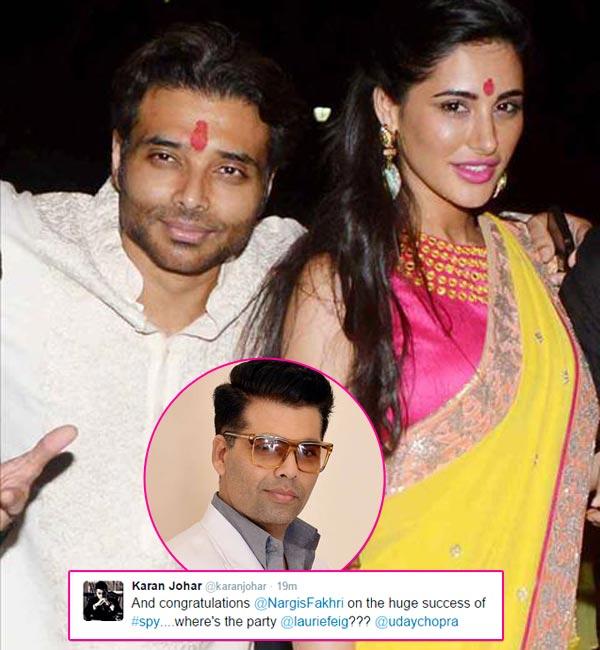 Karan Johar Confirms Uday Chopra And Nargis Fakhri S Secret Affair On Twitter