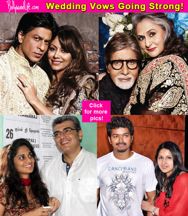 Shah Rukh Khan Amitabh Bachchan Rajinikanth Vijay Ajith Actors Whose Marriage