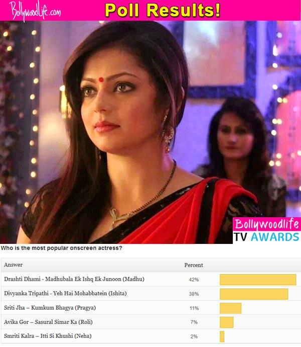 BollywoodLife TV Awards 2015: Drashti Dhami beats Divyanka Tripathi to be the most popular onscreen actress