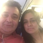 Rishi Kapoor and Padmini Kolhapure fly together after ages – view pic!