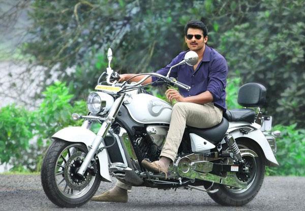 Prabhas Mirchi Telugu Movie 2013 Wallpapers Hd: Prabhas-stunning-look-still-bike-telugu-movie-mirchi