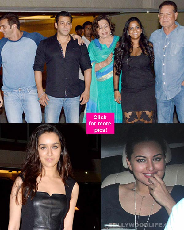 Salman Khan Hosts A Grand Birthday Bash For Sister Arpita Shraddha Kapoor And Sonakshi Sinha Show Up In Their Gorgeous Avatars View Pics