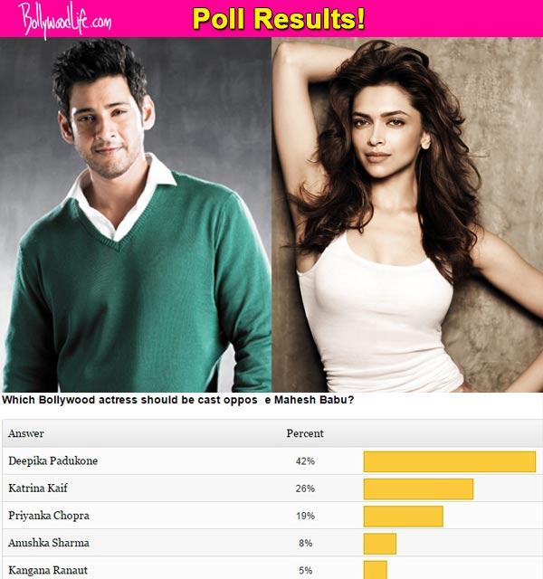 Deepika Padukone will be a perfect onscreen match for Mahesh Babu, say fans!