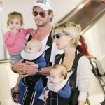 Chris Hemsworth's family surprise him in Boston!