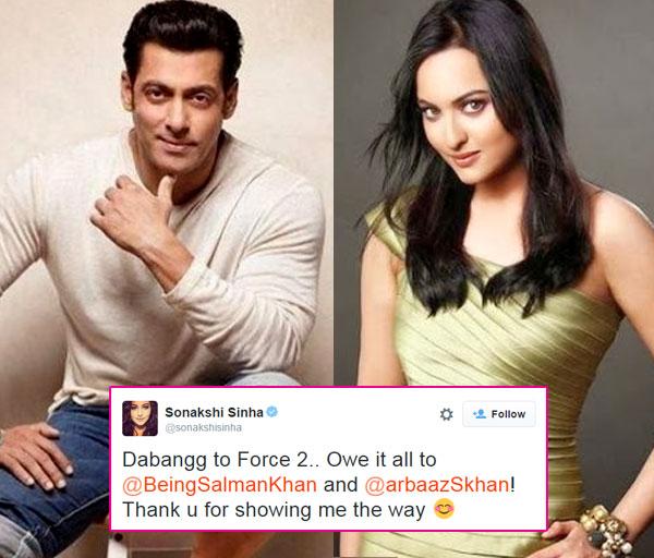 Sonakshi Sinha credits her sucess to Salman Khan!