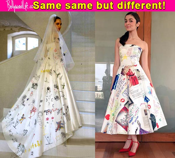 Alia Bhatt S Doodle Dress Is Clearly Inspired By Angelina Jolie Wedding Gown But We Are Not