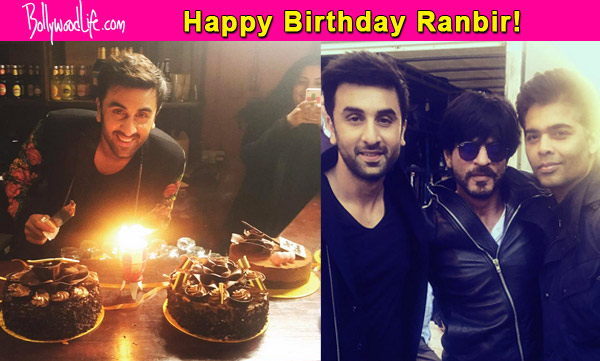 Shah Rukh Khan and Karan Johar bring in Ranbir Kapoors birthday in