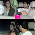 Love birds Alia Bhatt - Sidharth Malhotra, Anurag Kashyap spotted at the special screening of Shaandaar - view HQ pics!