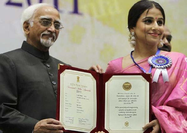 What does Vidya Balan have to say about returning her National Award?