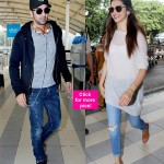 Ranbir Kapoor and Deepika Padukone spotted at the airport leaving for Delhi - view HQ pics!