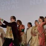 Amitabh Bachchan, Jaya Bachchan, Vidya Balan and Sharmila Tagore at Kolkata International Film Festival