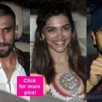 Ranveer Singh, Deepika Padukone, Ranbir Kapoor SPOTTED at Tamasha screening – view HQ pics!