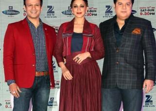Vivek Oberoi, Sonali Bendre and Sajid Khan at launch of India's Best Dramebaaz