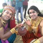 Gautam Rode and Saurabh Pandey bond over butter on the sets of Suryaputra Karn
