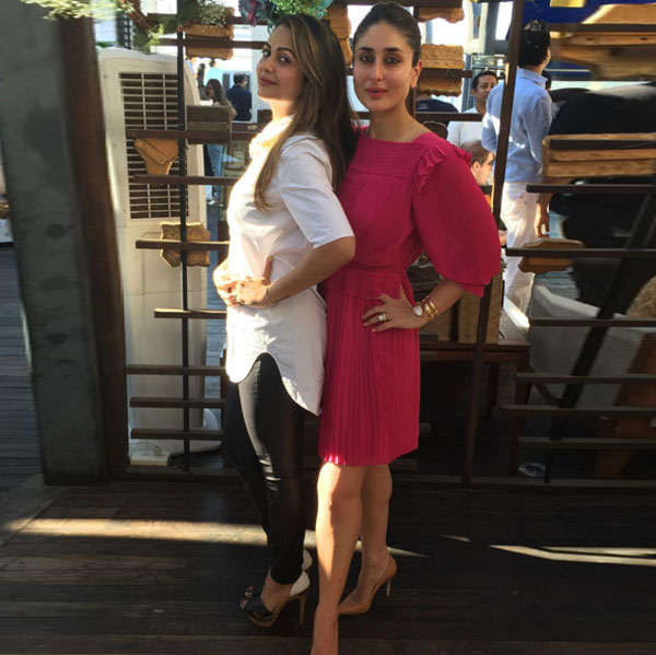 amrita arora and kareena kapoor khan step out in style for