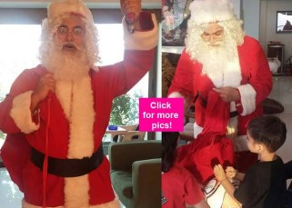 Aamir Khan celebrates Christmas by playing Santa Claus for son Azad and his friends - view pics!