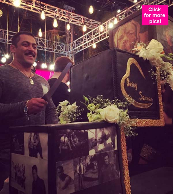 Salman Khan cuts a DREAMY CAKE on his 50th birthday view pic