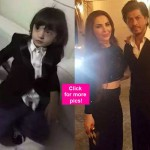 Shah Rukh Khan's son AbRam suited up for New Year's celebration – view pics!