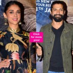 Wazir screening: Farhan Akhtar, Aditi Rao Hydari glam up the night while Amitabh Bachchan remains MISSING - view HQ pics!