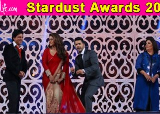 Stardust Awards 2015: Shah Rukh takes a brutal dig at Farah Khan's Happy New Year - here's how!