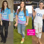 Taapsee Pannu, Kriti Sanon, Zarine Khan DAZZLE at the CCL opening match between Mumbai Heroes and Punjab De Sher - view HQ pics!