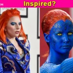 Was Lady Gaga's appearance at the Grammy Awards influenced by Jennifer Lawrence's Mystique avatar in X-Men?
