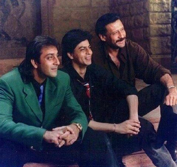 This picture of Shah Rukh Khan, Jackie Shroff and Sanjay ...
