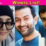 Prithviraj, Nivin Pauly and Parvathy win big at Vanitha awards!
