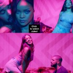 This second video of Rihanna and Drake's Work is all about t*ts and a$* - watch video!
