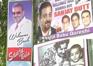 Sanjay Dutt's release from Jail: A look at welcome preparations outside actor's Bandra home - view pics!