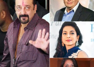 Rishi Kapoor, Priya Dutt, Juhi Chawla welcome Sanjay Dutt after his release from Yerwada jail!
