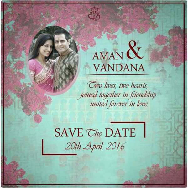 Heres how Aman Verma and Vandana Lalwanis wedding card will look