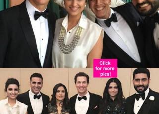 What are Akshay Kumar, Parineeti Chopra and Abhishek Bachchan doing with Hollywood hotties Matthew McConaughey and Salma Hayek? - view pics!