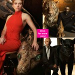Scarlett Johansson, Ben Kingsley, Idris Elba posing with their CGI halves in the photoshoot of Disney's The Jungle Book is OUTRAGEOUSLY AWESOME - view HQ pics!
