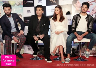 Fawad Khan, Alia Bhatt, Sidharth Malhotra and Karan Johar at Kapoor & Sons success bash - view pics!
