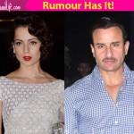 After Kareena Kapoor, Saif Ali Khan ditches the NO KISS clause, will share a steamy LIP LOCK with Kangana Ranaut in Rangoon!
